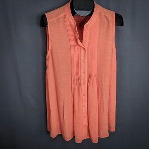Alfani Top Shirt Size 12 Orange Womens Sleeveless